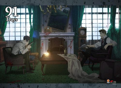 91 Days - Key Art 2 Wall Scroll, an officially licensed product in our 91 Days Wall Scroll Posters department.