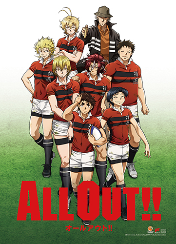 All Out!! - Key Art Wall Scroll, an officially licensed product in our All Out!!! Wall Scroll Posters department.