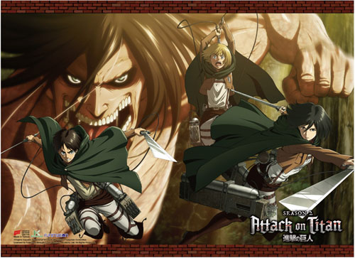 Attack On Titan S2 - Group 01 Wall Scroll, an officially licensed product in our Attack On Titan Wall Scroll Posters department.