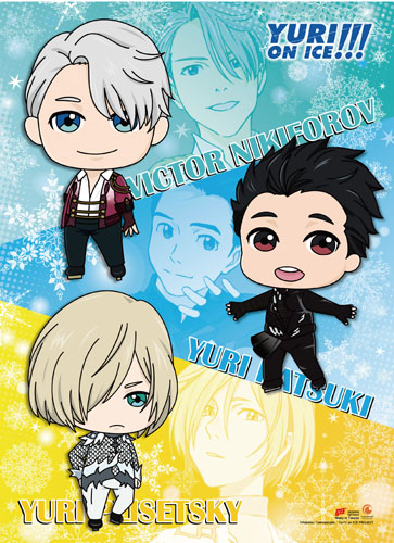 Yuri On Ice!!! - Sd Characters Wall Scroll, an officially licensed product in our Yuri!!! On Ice Wall Scroll Posters department.