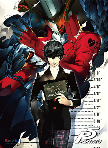 Persona 5 - Protagonist & Arsene Wall Scroll, an officially licensed product in our Persona Wall Scroll Posters department.