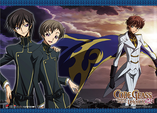Code Geass S2 - Lelouch, Rolo & Suzaku1 Wall Scroll, an officially licensed product in our Code Geass Wall Scroll Posters department.