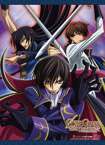Code Geass S2 - Lelouch, Suzaku & Lee Wall Scroll, an officially licensed product in our Code Geass Wall Scroll Posters department.