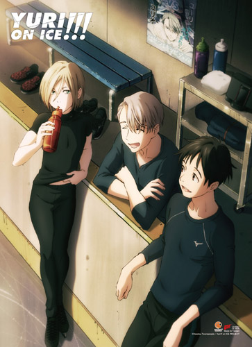 Yuri On Ice!!! - Yuri, Victoru & Yuri 4 Wall Scroll, an officially licensed product in our Yuri!!! On Ice Wall Scroll Posters department.