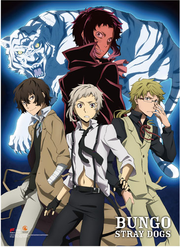 Bungo Stray Dogs - Group 02 Wall Scroll officially licensed Bungo Stray Dogs Wall Scroll Posters product at B.A. Toys.