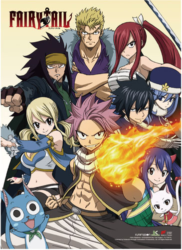 Fairy Tail - Group 1 Wall Scroll, an officially licensed product in our Fairy Tail Wall Scroll Posters department.