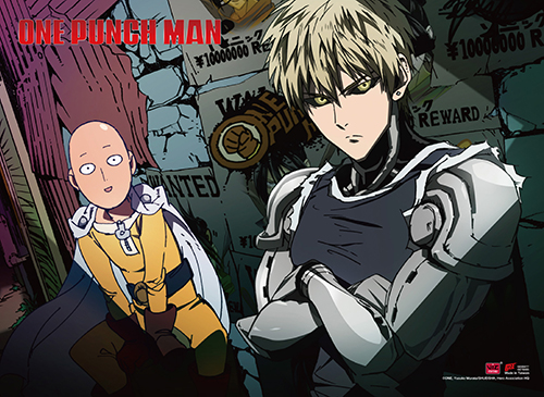One Punch Man - Saitama & Genos Wall Scroll, an officially licensed product in our One-Punch Man Wall Scroll Posters department.
