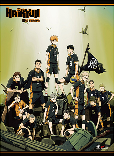 Haikyu!! - Key Art Wall Scroll, an officially licensed product in our Haikyu!! Wall Scroll Posters department.