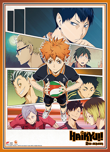 Haikyu!! - Key Art 2 Wall Scroll, an officially licensed product in our Haikyu!! Wall Scroll Posters department.