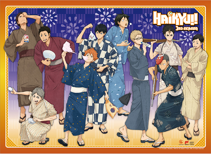 Haikyu!! - Yukata Group Wall Scroll, an officially licensed product in our Haikyu!! Wall Scroll Posters department.