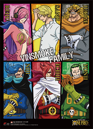 One Piece - Vinsmoke Family Wall Scroll, an officially licensed product in our One Piece Wall Scroll Posters department.