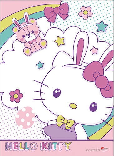 Hello Kitty - Happy Easter Wall Scroll, an officially licensed product in our Hello Kitty Wall Scroll Posters department.