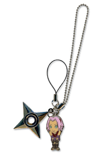 Naruto Shippuden Sakura & Weapon Cell Phone Charm, an officially licensed product in our Naruto Shippuden Costumes & Accessories department.