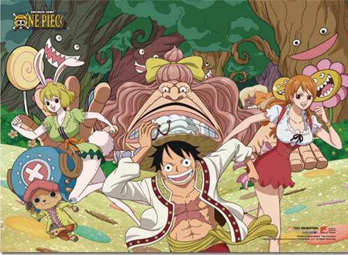 One Piece - Whole Cake Island Group 4 Wall Scroll, an officially licensed product in our One Piece Wall Scroll Posters department.