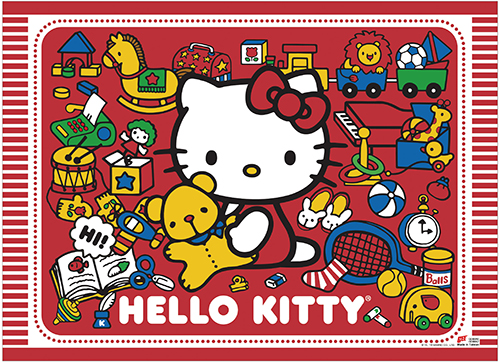 Hello Kitty - Play With Kitty Wall Scroll, an officially licensed product in our Hello Kitty Wall Scroll Posters department.