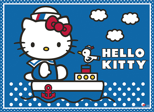 Hello Kitty - Blue Sea Wall Scroll, an officially licensed product in our Hello Kitty Wall Scroll Posters department.