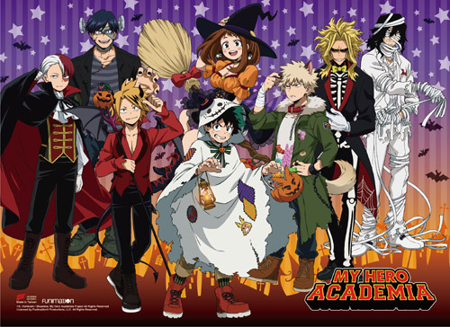 My Hero Academia - S2 Halloween Group Wall Scroll, an officially licensed product in our My Hero Academia Wall Scroll Posters department.
