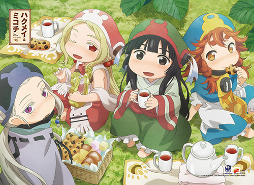 Hakumei & Mikochi Picnic Together Wall Scroll officially licensed Hakumei & Mikochi Wall Scroll Posters product at B.A. Toys.