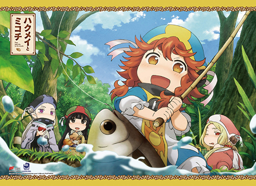 Hakumei & Mikochi Fishing Together Wall Scroll officially licensed Hakumei & Mikochi Wall Scroll Posters product at B.A. Toys.