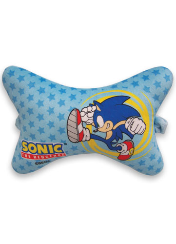 Sonic The Hedgehog Sonic Chair Pillow officially licensed Sonic Pillows product at B.A. Toys.