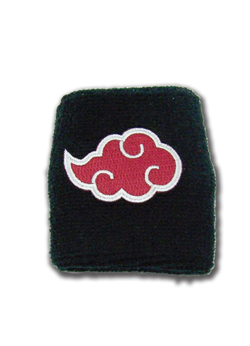 Naruto Shippuden Akatsuki Cloud Icon Wristband, an officially licensed product in our Naruto Shippuden Wristbands department.
