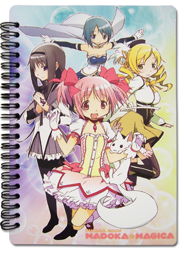 Madoka Magica Key Art Notebook, an officially licensed product in our Madoka Magica Stationery department.