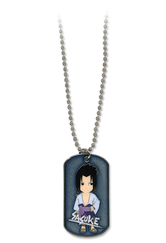Naruto Shippuden Sasuke Dog Tag Necklace, an officially licensed product in our Naruto Shippuden Jewelry department.