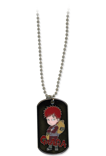 Naruto Shippuden Gaara Dog Tag Necklace, an officially licensed product in our Naruto Shippuden Jewelry department.
