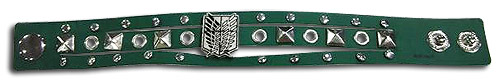 Attack On Titan - Scout Regiment Pu Bracelet, an officially licensed product in our Attack On Titan Jewelry department.