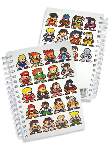 Super Street Fighter Iv 8Bit Hard Cover Notebook, an officially licensed product in our Super Street Fighter Stationery department.