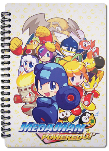 Megaman Powered Up- Key Art Notebook, an officially licensed product in our Mega Man Stationery department.