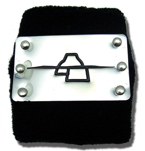 Naruto Shippuden Anti Rock Deidara Metal Wristband, an officially licensed product in our Naruto Shippuden Wristbands department.