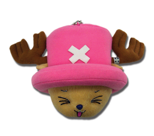 One Piece Chopper Head Plush Clip officially licensed product at B.A. Toys.