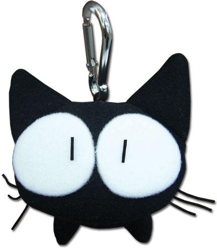Flcl Takkun Cat Plush Clip, an officially licensed FLCL Key Chain