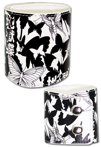 Bleach Butterfly Leather Wristband, an officially licensed Bleach product at B.A. Toys.