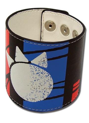Bleach Kon Print Pvc Leather Wristband, an officially licensed Bleach product at B.A. Toys.