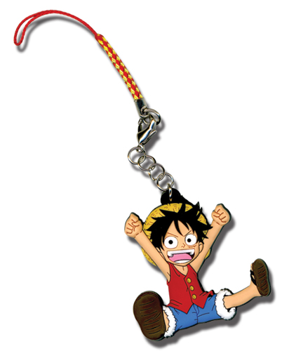 One Piece Sd Luffy Cell Phone Charm, an officially licensed One Piece Cell Phone Accessory