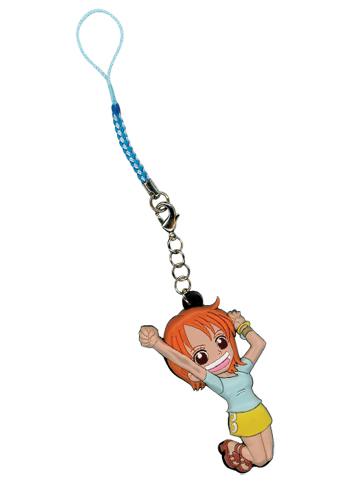 One Piece Sd Nami Cell Phone Charm, an officially licensed product in our One Piece Costumes & Accessories department.