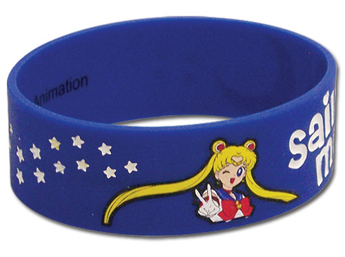 Sailormoon Pvc Wristband With Star officially licensed Sailor Moon Wristbands product at B.A. Toys.