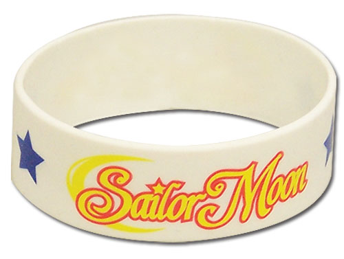 Sailormoon Sailor Moon Logo Pvc Wristband, an officially licensed product in our Sailor Moon Wristbands department.