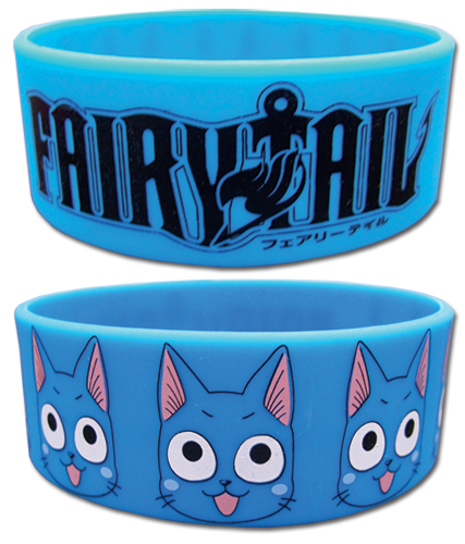 Fairy Tail Happy Pvc Wristband officially licensed Fairy Tail Wristbands product at B.A. Toys.