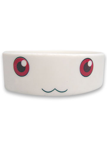Madoka Magica Kyubey Pvc Wristband officially licensed Madoka Magica Wristbands product at B.A. Toys.