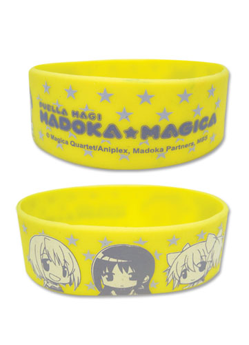 Madoka Magica Sd Characters Pvc Wristband officially licensed Madoka Magica Wristbands product at B.A. Toys.
