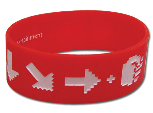 Street Fighter Ssfiv-Hadoken Pvc Wristband, an officially licensed product in our Street Fighter Wristbands department.