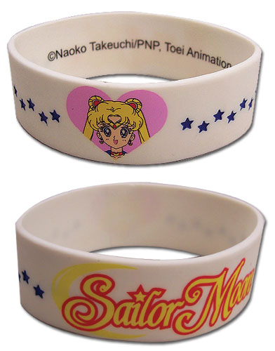 Sailormoon Love Sailor Moon Pvc Wristband officially licensed Sailor Moon Wristbands product at B.A. Toys.