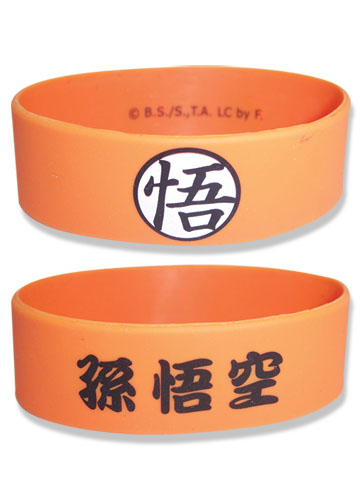 Dragon Ball Z Goku Symbol Pvc Wristband officially licensed Dragon Ball Z Wristbands product at B.A. Toys.