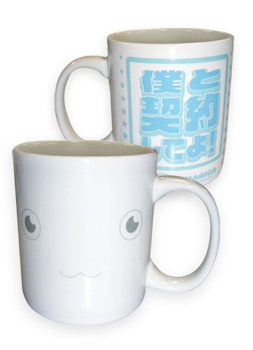 Madoka Magica Kyubey Mug officially licensed Madoka Magica Mugs & Tumblers product at B.A. Toys.