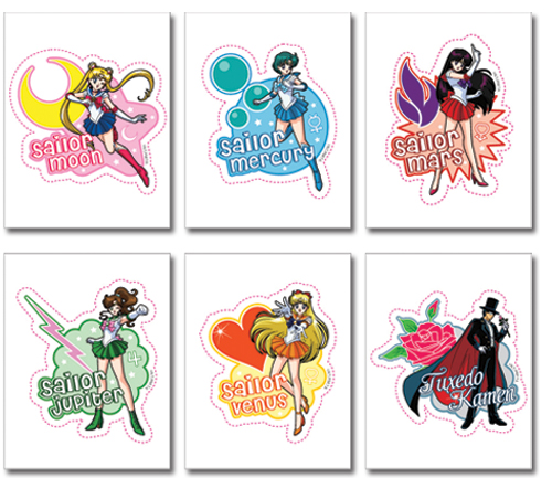 Sailormoon Character Sticker Set, an officially licensed product in our Sailor Moon Stickers department.