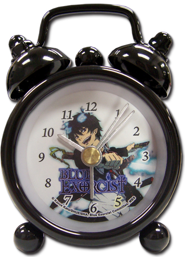 Blue Exorcist Tin Mini Desk Clock officially licensed Blue Exorcist Clocks product at B.A. Toys.