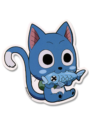 Fairy Tail Happy Sticker, an officially licensed Fairy Tail product at B.A. Toys.